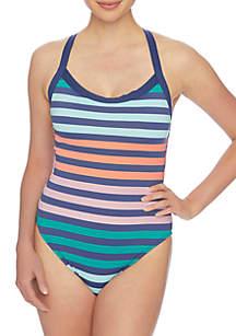 Next Stripe Impact Plank One Piece Swimsuit