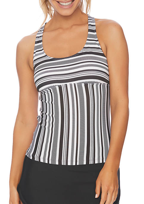 Minimalist Cross Back Tankini Swim Top