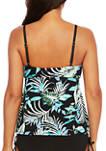 Jungle Tropic High Neck Tankini Swim Top