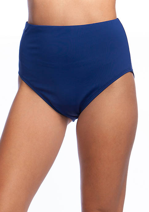24th and Ocean Solid High Waist Swim Bottoms