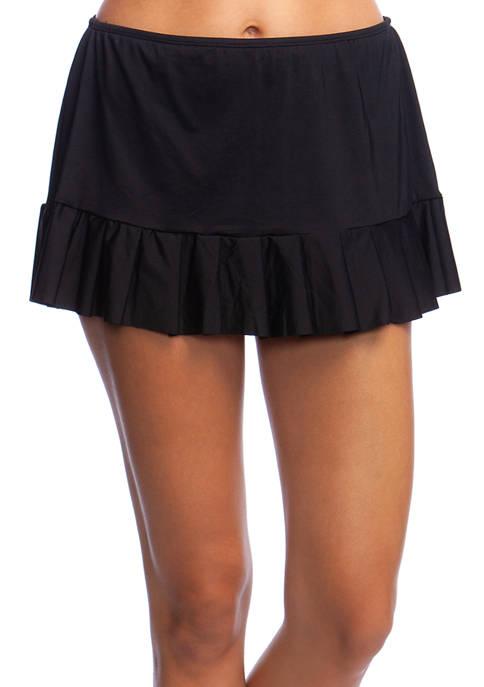 24th and Ocean Mid Waist Pleated Swim Skirt