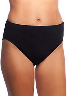 24th and Ocean Solid Mid Waist Bikini Swim Bottoms