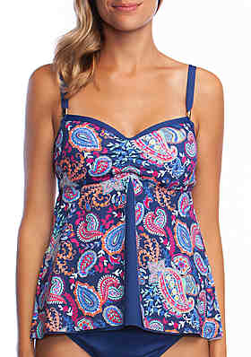 af955654440 24th and Ocean Paisley Lane Fly Away Tankini ...