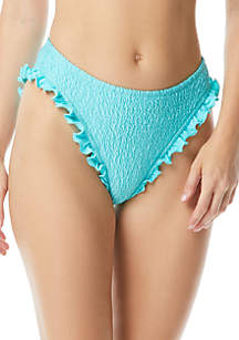 Coco Rave Ruffled Edge Hipster Swim Bottoms