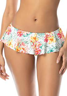 Coco Rave Rio or Bust Shaye Ruffle Skirted Swim Bikini Bottom