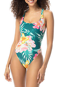 Coco Rave Tropical Vibes Debbie Triple X Back One Piece Swimsuit