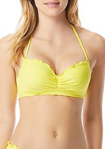 Coco Rave Nadia Ruffle Bandeau Bikini Swim Top
