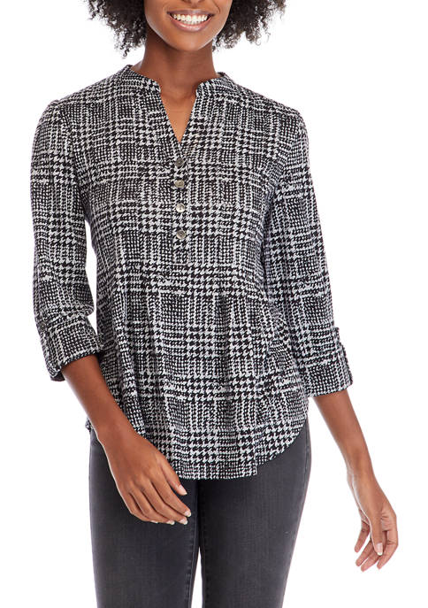 Womens Check Me Out Henley Top