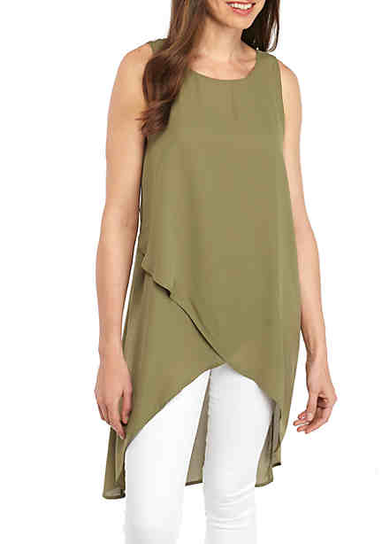 New Directions® Cross Front Tunic Tank ...