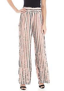 New Directions® Pull On Eyelash Palazzo Pants