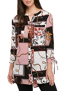 New Directions® Long Sleeve Status Mixed Animal Tunic