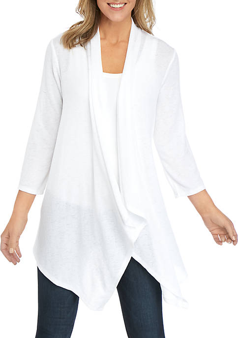 New Directions® Knit Open Front Cardigan