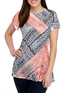 f00cc4f9 ... New Directions® Short Sleeve Patchwork Sublimated T Shirt