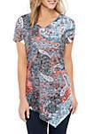 Short Sleeve Paisley Sublimated T Shirt