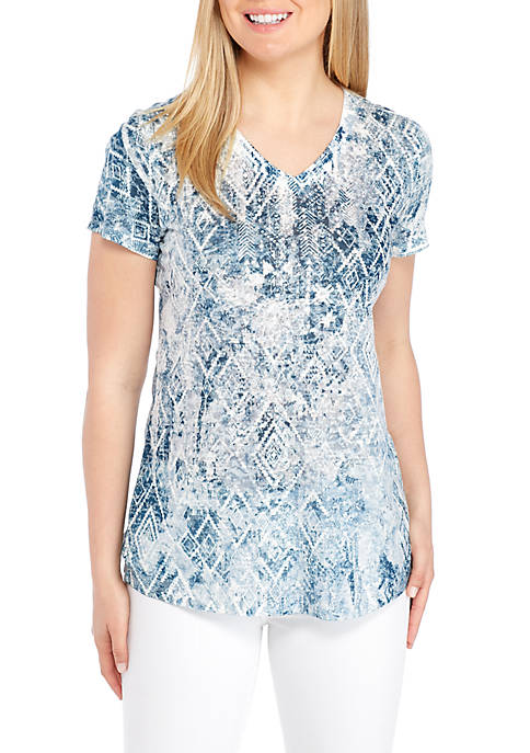 New Directions® Aztec Print Sublimated Tee