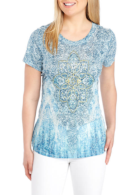 New Directions® Medallion Graphic Sublimated Tee
