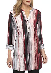3/4 Sleeve Stripe Tunic