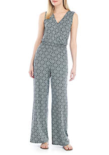 a43a20d1c0e ... New Directions® Sleeveless Printed Ity Jumpsuit