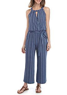 New Directions® Sleeveless Halter Jumpsuit