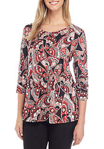 New Directions® Three-Quarter Cinched Sleeve Grommet Swing Top