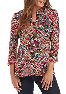 Cross Front Lace-Up Top