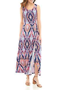 New Directions® Sleeveless Printed Maxi Dress