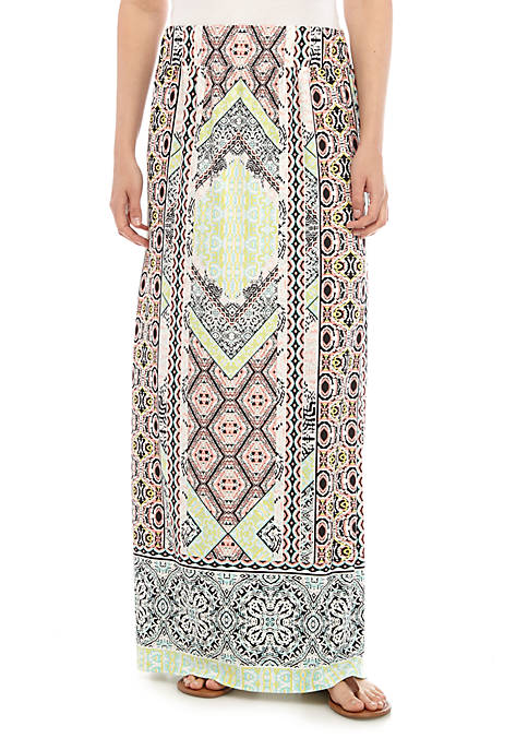 New Directions® Patchwork Printed ITY Skirt