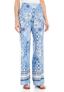 New Directions® ITY Paisley Palazzo Pants