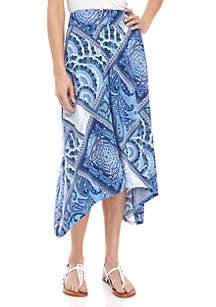 New Directions® Pull On Printed ITY Shark Bite Skirt