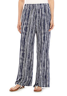 New Directions® Full Length Striped Palazzo Pants