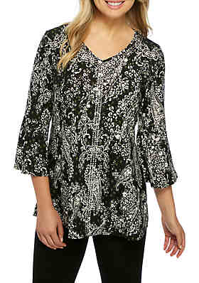 396386a34d236 New Directions® V-Neck Embellished Tunic ...
