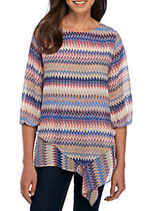 3/4 Sleeve Double Layer Woven Top