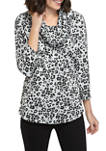 Womens Long Sleeve Cowl Neck Top