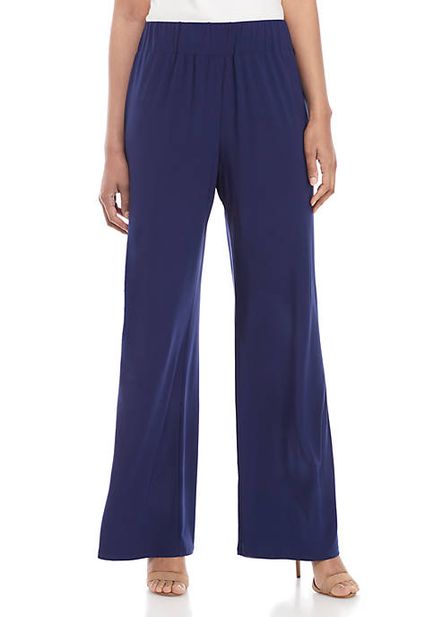 New Directions® Full Length Solid Palazzo Pants