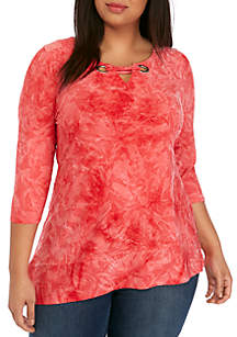 New Directions® Plus Size Jacquard Textured Top