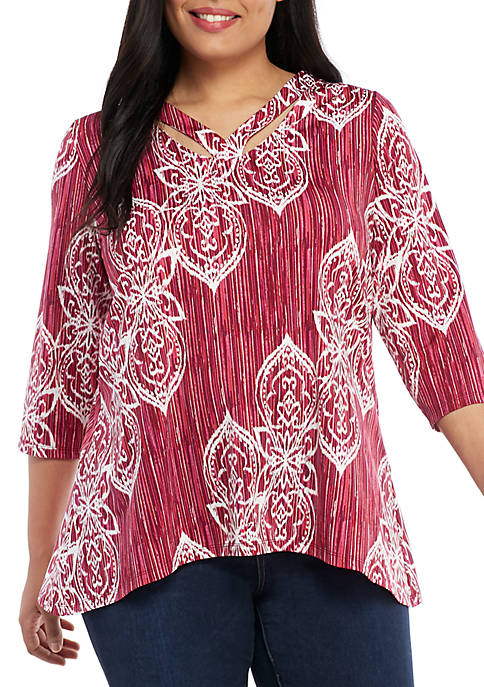 New Directions® Plus Size 3/4 Sleeve Essential ITY