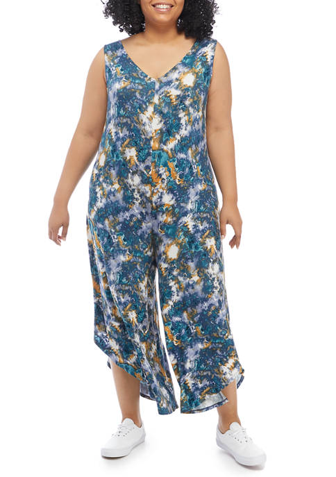 New Directions® Plus Size Sleeveless Genie Jumpsuit