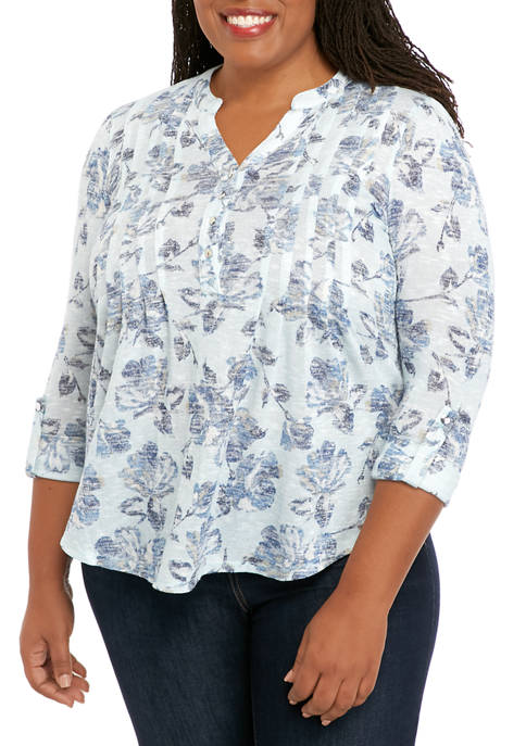Plus Size Henley Top