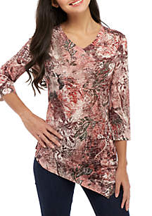 Petite Embellished Sublimated Top