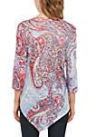 Petite 3/4 Sleeve Sublimated T Shirt