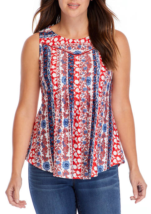 New Directions® Petite American Border Swing Top