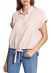 Essential Boreego Stripe Tie Shirt