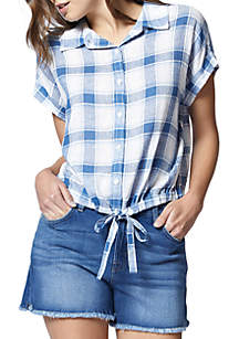 Borrego Tie Plaid Shirt