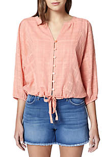 Indio Tie Front Blouse