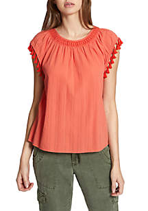 Gobe Tassel Sleeve Top