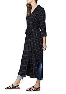 Jess Windowpane Maxi Skirt
