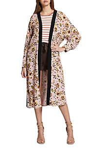 Calico Printed Kimono