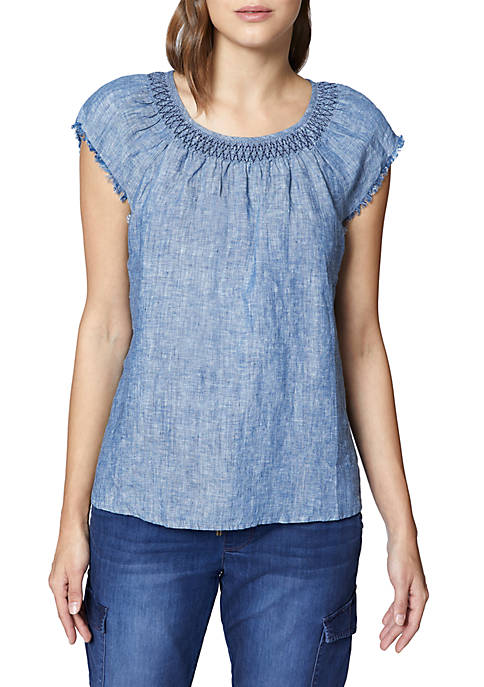 Sanctuary Vintage Girly Denim Top