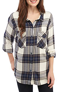 Plus Size Boyfriend 4 Life Plaid Shirt