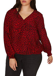 Plus Size Cori Smocked Sleeve Blouse